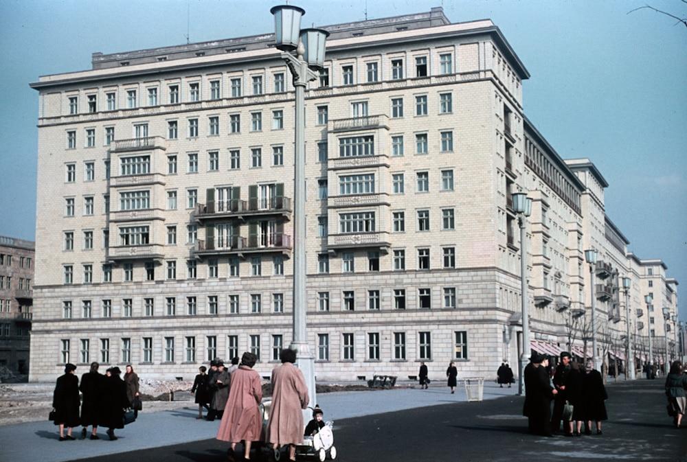 Heinz Vontin 1954 Berlin Stalinallee